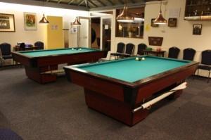 Zaal 3 bij BC Boko in Zaandam, de ruimte waar de leden van BV Rappel de clubavonden houdt.